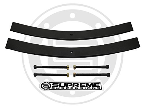 """Supreme Suspensions - Rear Leveling Kit for 1987-1989 Toyota 4Runner 1.5"""" - 2"""" Rear Suspension Lift High-Strength Steel Add-A-Leaf Kit + Isolator Pads (37.5"""" Long AAL) 2WD 4WD"""