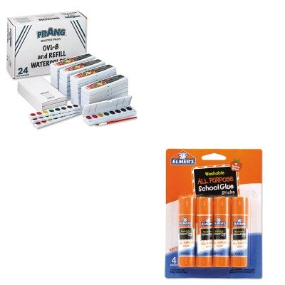KITDIX08020EPIE542 - Value Kit - Prang Professional Watercolors (DIX08020) and Elmer's Washable All Purpose School Glue Sticks (EPIE542) by Prang