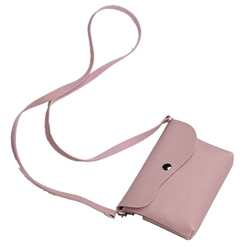 Sac Cuir ESAILQ bandoulière Rose Téléphone Féminine Messenger à Mode épaule en Sac de wXCC0xzqr