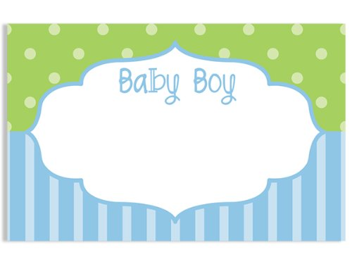 50 pack Baby Boy FrameNo Sentiment Enclosure Cards (20 unit, 50 pack per unit.) by Nas