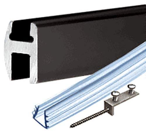 CRL Black Deluxe Shower Door Header Kit - 95 in long