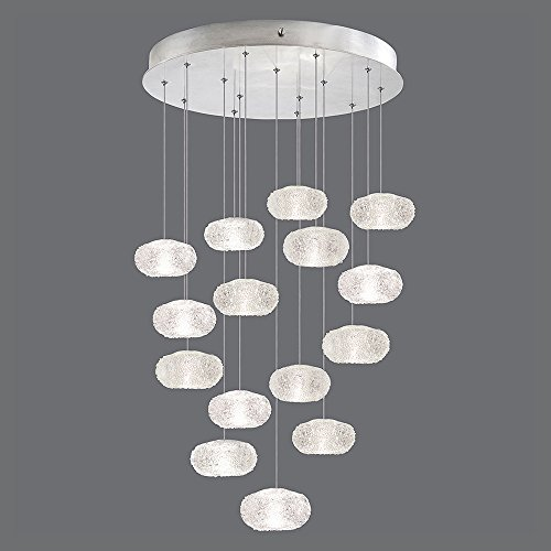 Fine Art Lamps 853140-12, Natural Inspirations Mini Pendant, 1180 Watt Halogen, Silver Leaf