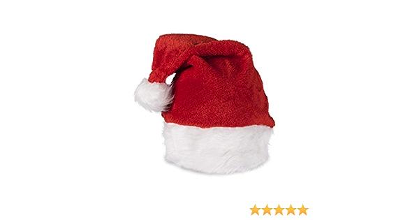 1 pc Christmas Hat Pink Plush Santa Hats Xmas Headdress Photo Prop for Children