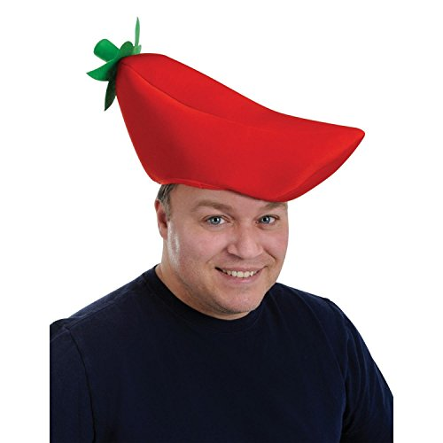Club Pack of 12 Plush Red Chili Pepper Party Hats One Size (Chili Pepper Hat)