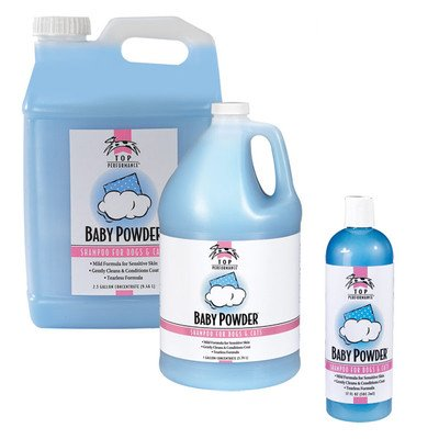 - Baby Powder Pet Shampoo Size: 2.5 gallon