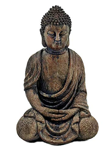 Bellaa 24384 Buddha Statues Dhyana Mudra Meditating Indoor Out