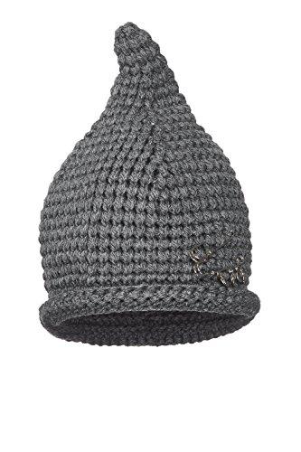 Nothing But Love Women Pointed Beanie Pins Fleece Lined Crocheted Pixie Hat Warm Winter Headwear (Grey) (Gorras Damas Para)