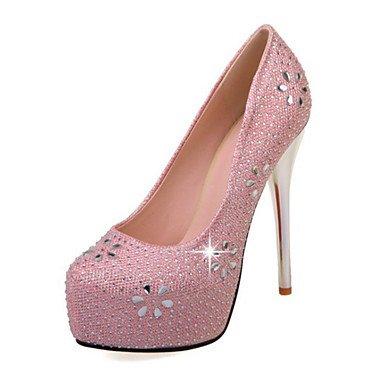 El mejor regalo para mujer y madre Mujer Zapatos PU Primavera Otoño Confort Innovador Zapatos de boda Tacón Stiletto Dedo Puntiagudo Cristal Para Boda Fiesta y Noche Dorado , us10.5 / eu42 / uk8.5 / c