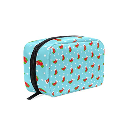 Candy Needlepoint (Needlepoint Christmas Stocking Kkit square cosmetic bag compartment travel skin care zipper storage bag female)