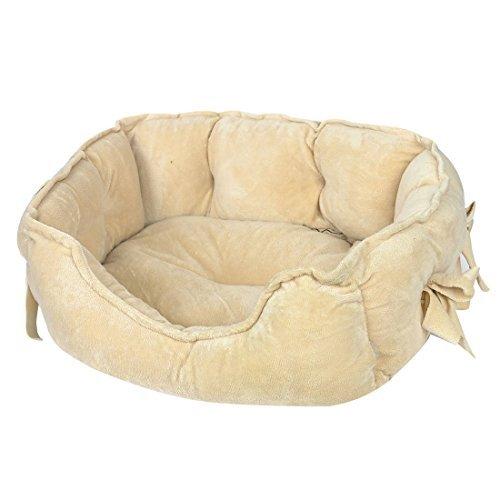eDealMax perro perrito Cama caseta de perro de la perrera Doghole Mat, 50 x 40 x 17 cm, de Color caqui