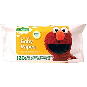 Amazon Com Sesame Street Shea Butter Baby Wipes 120