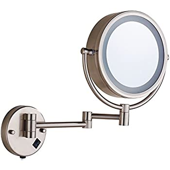 Amazon Com Cavoli Wall Mounted Makeup Mirror With Led
