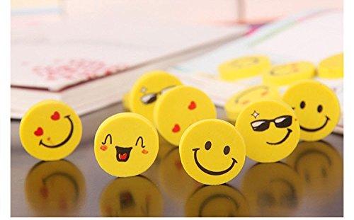 (4pcs/bag Cute smiley face eraser creative stationery, school supplies, student small gifts cartoon original eraser random face )