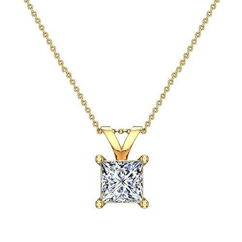 Princess Cut Diamond Solitaire Pendant 3/4 carat