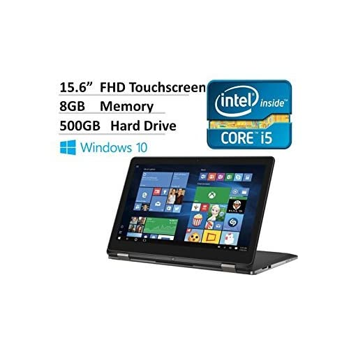 Image of 2016 Dell Inspiron 15.6' 2-in-1 Full HD Touchscreen Convertible Laptop, Intel Core i5-6200U Processor, 8GB RAM, 500GB HDD, Webcam, HDMI, Backlit Keyboard, Windows 10 2 in 1 Laptops