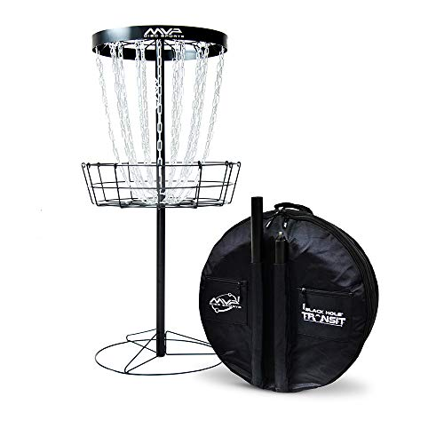 MVP Disc Sports Black Hole Pro 24 Chain Disc Golf Basket with Transit Bag - All Sport Frisbee
