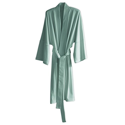 Under the Canopy Organic Cotton Kimono Robe, One Size, Mineral Blue
