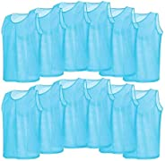 12 Pack Mesh Scrimmage Training Vests Football Vest Breathable Adults Jerseys Bibs for Volleyball Soccer Baske