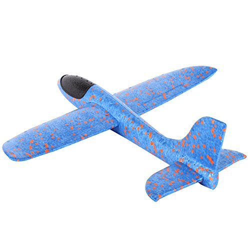 Epp Foam Plane (Wenasi EPP Super Durable Throwing Glider Inertia Plane Foam Aircraft Toy Hand Launch Airplane Model Outdoor Sports Toy for Kids (1313.45.52 in,Blue))