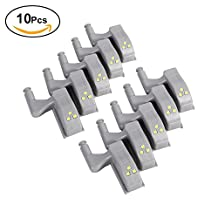 10 PCS Universal Cabinet Cupboard Hinge LED Light For Modern Kitchen Home Lamp, Warm White/Cool White ( Color : Warm White )