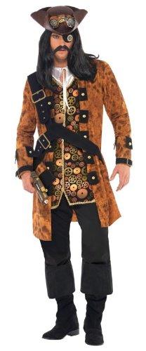 [Smiffy's Steam Punk Pirate Costume, Multi, Medium] (Punk Halloween Costume Men)