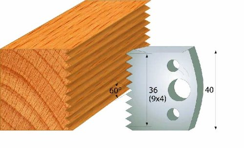 CMT 690.117 Profiled Knives for Shaper Cutters, 1-37/64-Inch Cutting Length, 5/32-Inch Thickness - 2-Pack