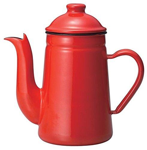 - Kalita Enamel Pot Kettle Coffee Tatsujin Pelican 1L Red