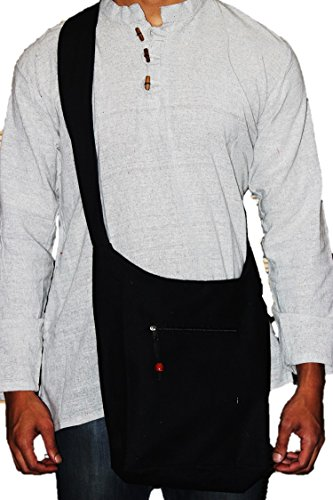 TRIBESMANGOLD-- Hippie Hobo Sling Shoulder Crossbody Bag Purse Cotton Boho