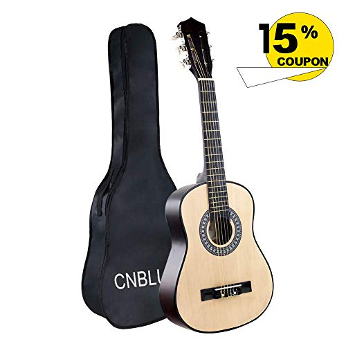 Classical Guitar Acoustic Guitar Kids 1/2 Size 30 inch Nylon Strings Guitar Starter Kits for Children Beginners Students (Nature)