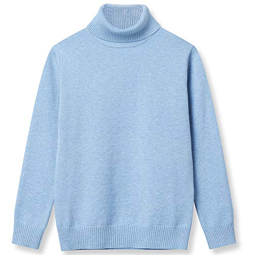Girl Sweaters Pullover Turtleneck Knitted Long Sleeve Solid Color Kids Winter Tops Clothes Blue ()