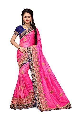 Wear Women for Indian Party Sarees Designer Wedding Da Sari Traditional 8 Pink Facioun q4a8wnR