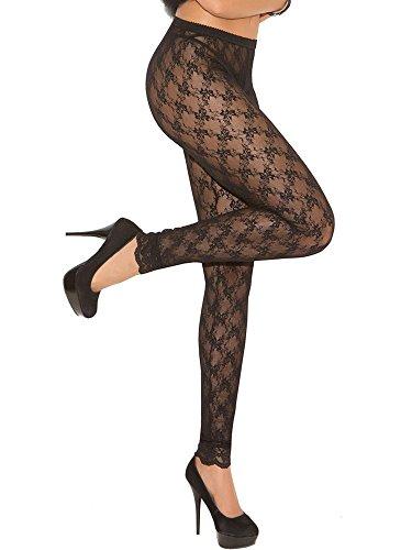 Lace Leggings (Black, Queen Size) (Elegant Moments Vinyl Thong)