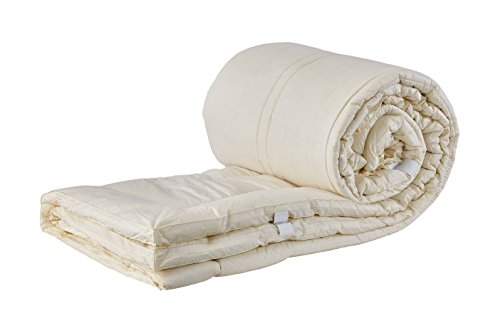 - Sleep & Beyond 78 by 80-Inch Washable Wool Mattress Pad, King, Natural