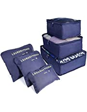 Packing Cubes,TERSELY [6 PCS] Waterproof Travel Luggage Organisers Suitcase Storage Bags,3 Travel Cubes + 3 Pouches Clothes Luggage Packing Organizers