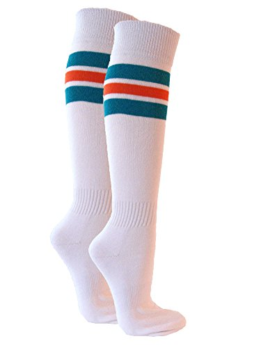 Couver Premium Quality Semi-pro Jackie Moon Striped Knee High Softball Socks -