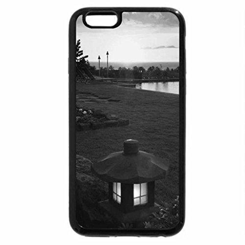 iPhone 6S Plus Case, iPhone 6 Plus Case (Black & White) - kauai valley hawaii at sunset