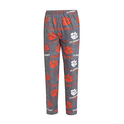 Concept Sport Clemson Tigers Adult NCAA Achieve Fleece Pajama Pants - Gray, Large