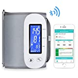 Bluetooth Blood Pressure Monitor, Digital Automatic Blood Pressure Cuff Wrist, FDA Approved Large Screen 2*500 Memory Blood Pressure Machine, Upper Arm BP Monitor Cuff with APP for Apple iOS & Android