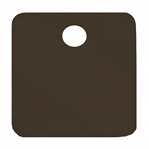 Black Blank Tag, Aluminum, Square, 1-1/4'' Height, 5 PK
