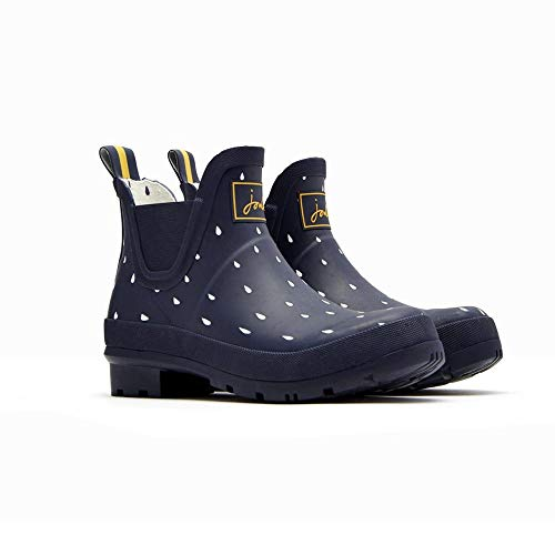 Price comparison product image Joules Womens Wellibob Rain Boot,  Navy Raindrops,  Size 8