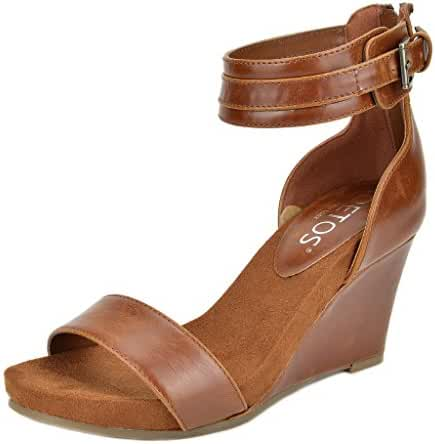 TOETOS SOLSOFT New Women's Casual Summer Mid Wedge Heel Open Toe Platform Sandals