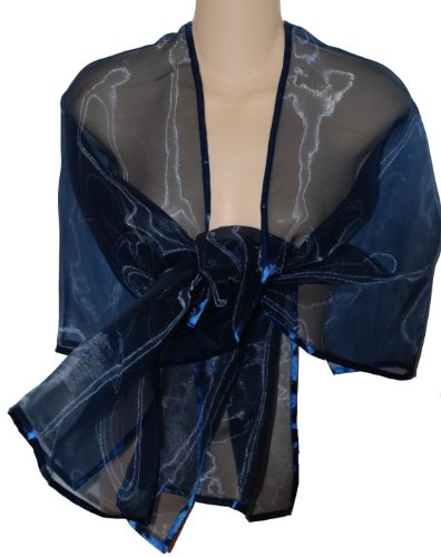 Sheer Delights Sheer Organza Evening Wrap Shawl For Prom