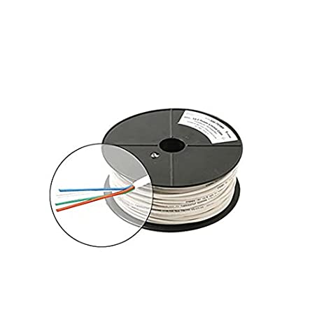 Amazon.com: 500\' FT 18 AWG GA 4 Conductor Cable White Solid Copper ...