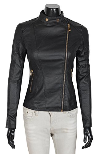 Ladies Leather Biker Style Jackets - 7