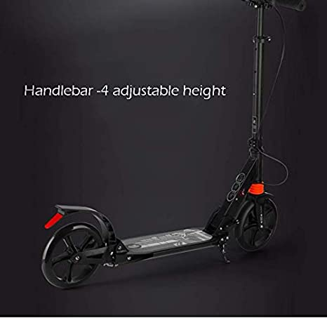 Amazon.com: ZAQ Adult Kick Scooter Handbrake Dual Suspension ...