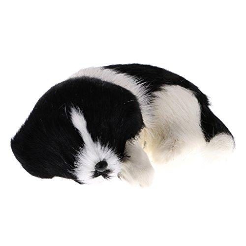 Jili Online Cute Realistic Plush Simulation Animal Model Lifelike Dog comfortable Handcraftfor Home Decoration Desktop Decor Kids Toy Gift