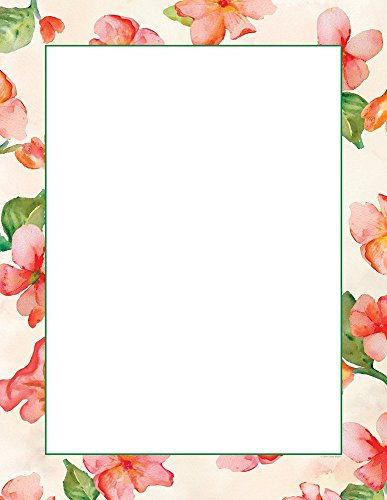 "Great Papers! Watercolor Bloom Letterhead, 80 Count, 8.5""x11"" (2012388)"