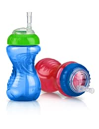 Nuby 2-Pack No-Spill Cup with Flex Straw, 10 Ounce, Colors May Vary BOBEBE Online Baby Store From New York to Miami and Los Angeles