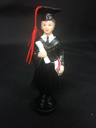 Graduate Cake Topper - Graduation Male Figurine Cake Topper or Gift or Favor