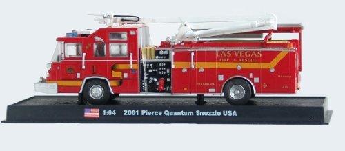 Pierce Quantum Snozzle Fire Truck Diecast 1:64 Model (Amercom GB-19)